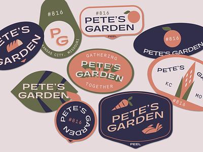Fresh Stickers corn brand sticker badge hand bread leaf garden fruit