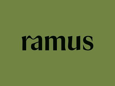 Ramus green logo lettering branding logotype wordmark type
