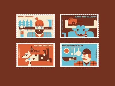 Minnesota Folktale Stamps