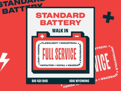 Standard Battery Sign