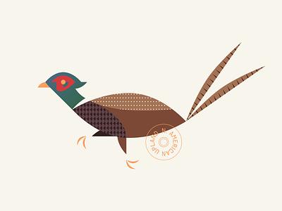 North American Upland Pheasant badge gradient america north hunting pheasant