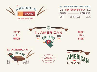 North American Upland red green patch bird brand gun hunting phesant badge