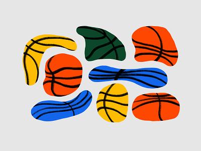 Flat Basketballs procreate illustration sports air illustrations basketball
