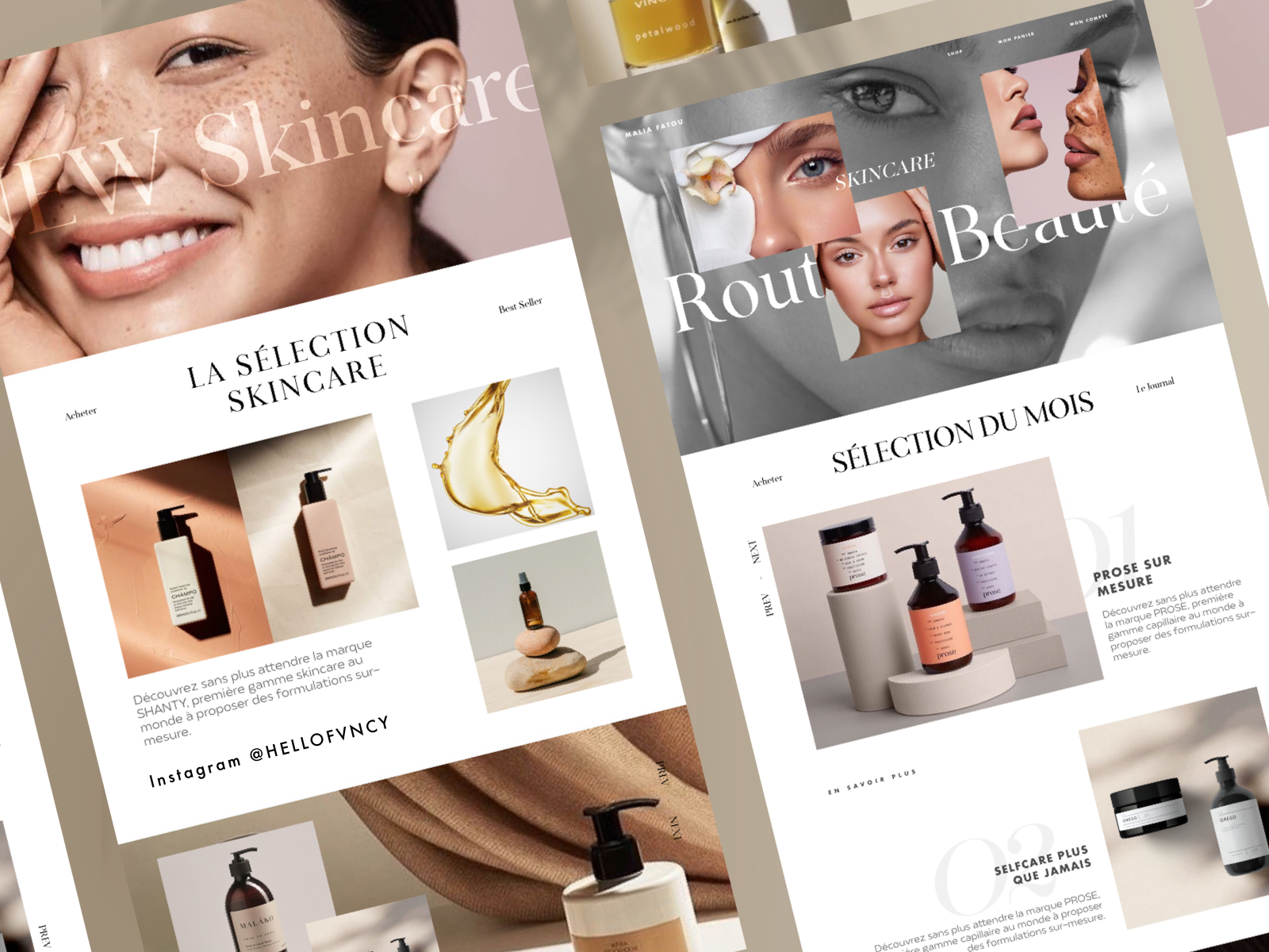 Skincare Website Design By Roxanne Fvncy On Dribbble