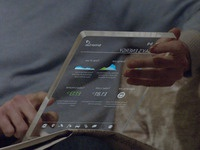 Smart glass tablet / in-home dispay