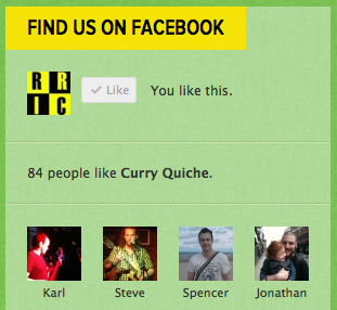 Customised Facebook Like Box facebook yellow green social plugin