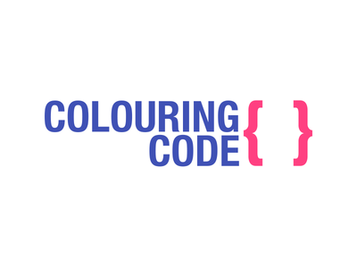 Colouring Code helvetica typography code logo