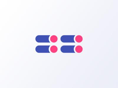 Colouring Code flat polygon icon morse code code logo