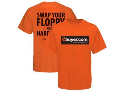 T-Shirt : Female clothing print orange black white