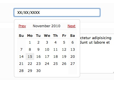 Sexual Date Picker data white black red date picker jquery