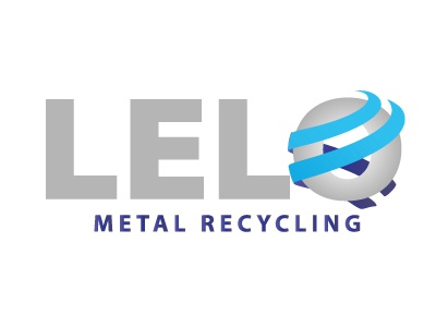 Lelo : Logo metal sphere silver blue typography logotype illustration