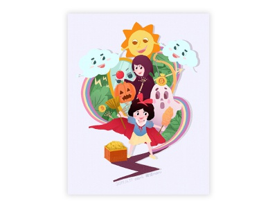 Adventures of Snow White illustration