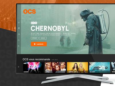 OCS - Smart TV App Redesign interface design hbo twd the walking dead got game of thrones tv app vod netflix tv ocs
