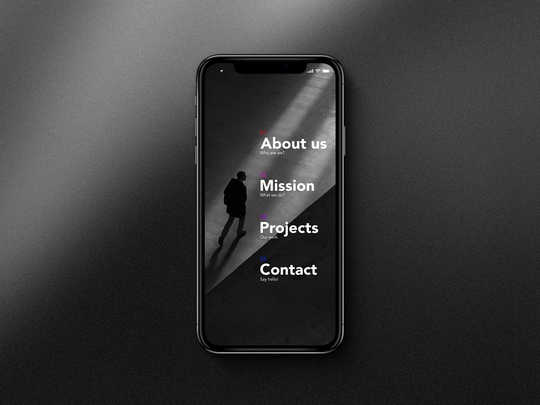 Mobile nav app ui design