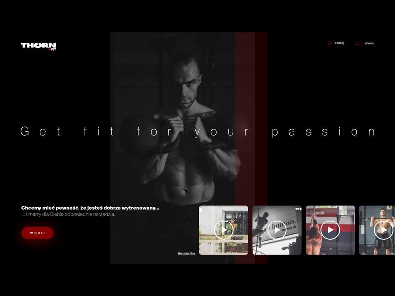 THORN+fit website website branding typography web ui design