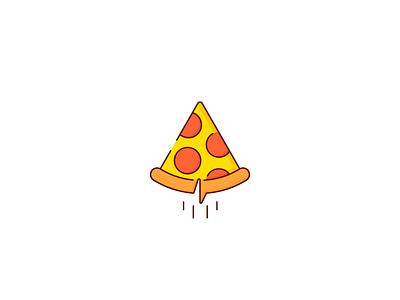 Logo Challenge | Pizza Paper Plane airplane food dailylogochallenge glide paper plane pizza illustration flat logotype logo