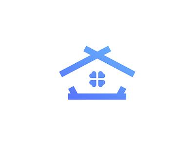 Logo Challenge   Construction Company window minimalism house clover logotype logomark logo flat dailylogo dailylogochallenge cottage