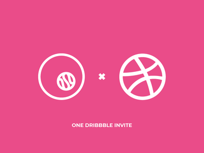 ONE DRIBBBLE INVITE dribbble invite giveaway dribbble invite dribbble