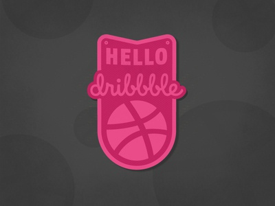 Hello Dribbble! illustration vector art vector graphics vector texture badge design vintage badge badge debut hello dribbble dribbble hello