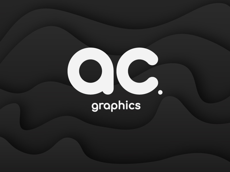 AC Graphics Logo - B&W Version graphic design graphics ac graphics brand identity branding logo