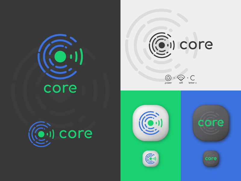 Core  - Branding Project icon app acgraphics core logo logomark wordmark brand identity branding