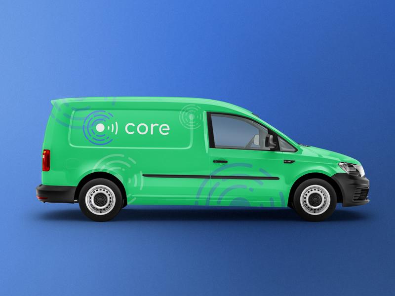 Core Brand - Van Mockup project logo van product mockup mockup brand identity branding core