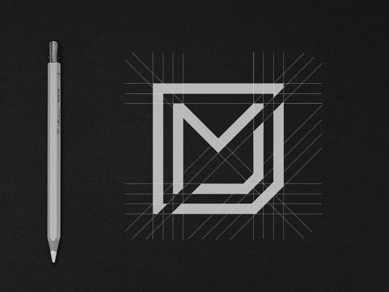MJ Monogram / Process typography c4d type design mockup logo process procees monogram ac graphics