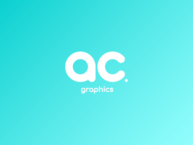 AC Graphics - Brand Revamp simple gradient monogram design vector illustrator typography logo ac graphics illustration graphic design branding brand identity