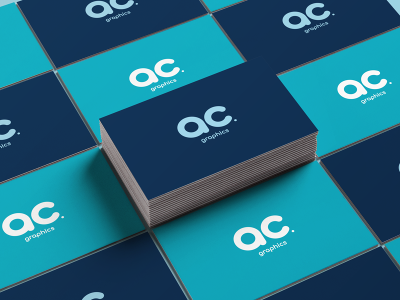AC Graphics - Business Card Mockup graphic design illustrator business card typography monogram mockup branding brand identity ac graphics