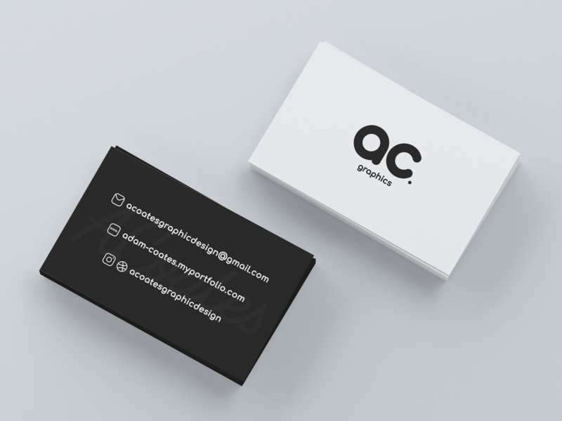 AC Graphics - Business Card Mock-up 2 business card typography monogram graphic design mockup branding brand identity ac graphics