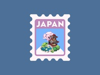 japan poststamp