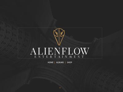 AlienFlow - Entertainment logotype typography illustration design branding app vector photoshop logo illustrator