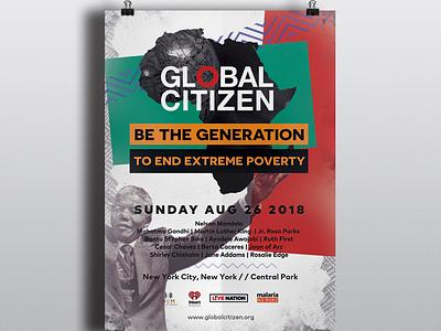 Global Citizen: To End Extreme Poverty artist posterdesigner posterdesign blackdesigner graphicdesigner digitalartist designlife globalcitizen endingpovertyby2030