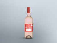 Living Coral Pink Wine Bottle