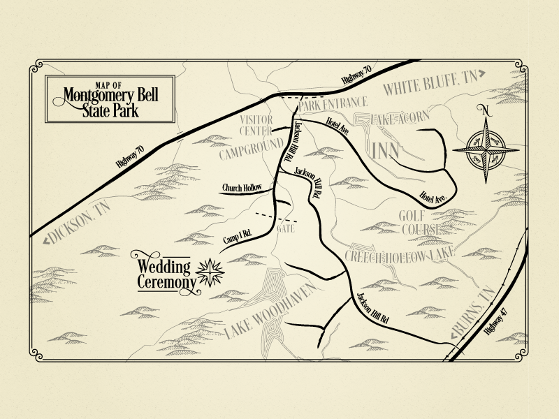 Lord Of The Rings Esque Wedding Invitation Map By Rebecca Goddard