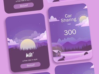Interactive banner - Carsharing banner ad banner design interactive banner banner dailyui ui uidesign application illustration