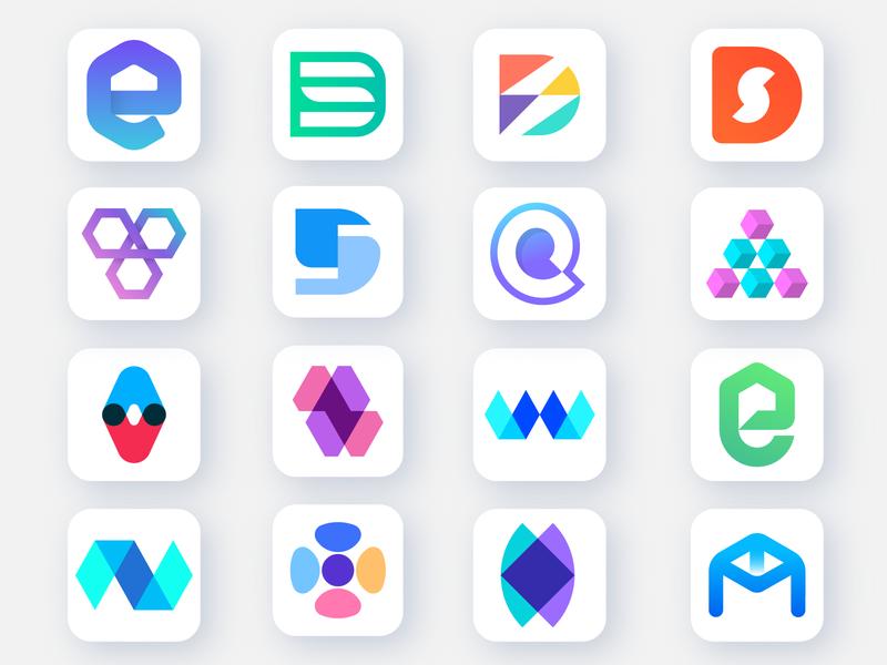 Random Logofolio app icon wordmark letterforms lettermark communication e logo monogram logo design overlay abstract logo branding d logo app logo design app logo logofolio
