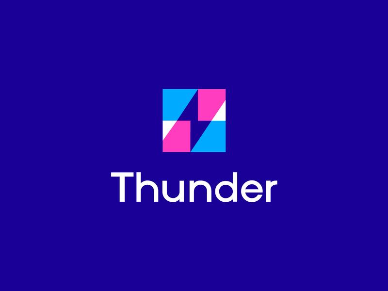 thunder negative space letterforms identity abstract logo logo monogram branding logomarks logo design overlay energy logo thunder logo thunder