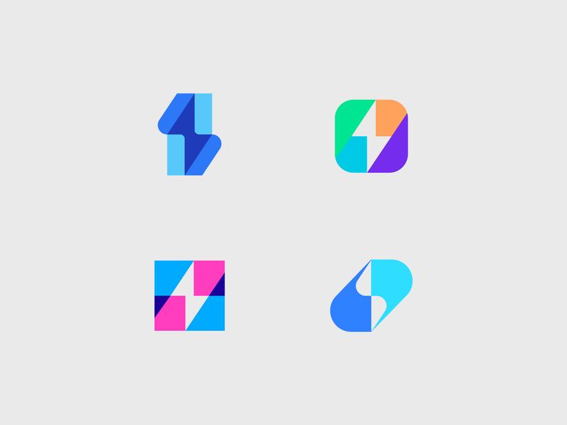 thunder overlay negative space logos logo logomarks illustration monogram branding logo collection logo design power energy thunder