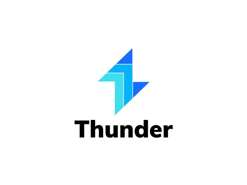 thunder design mark negative space logos logomarks arrow branding energetic logo design monogram thunder power energy logo