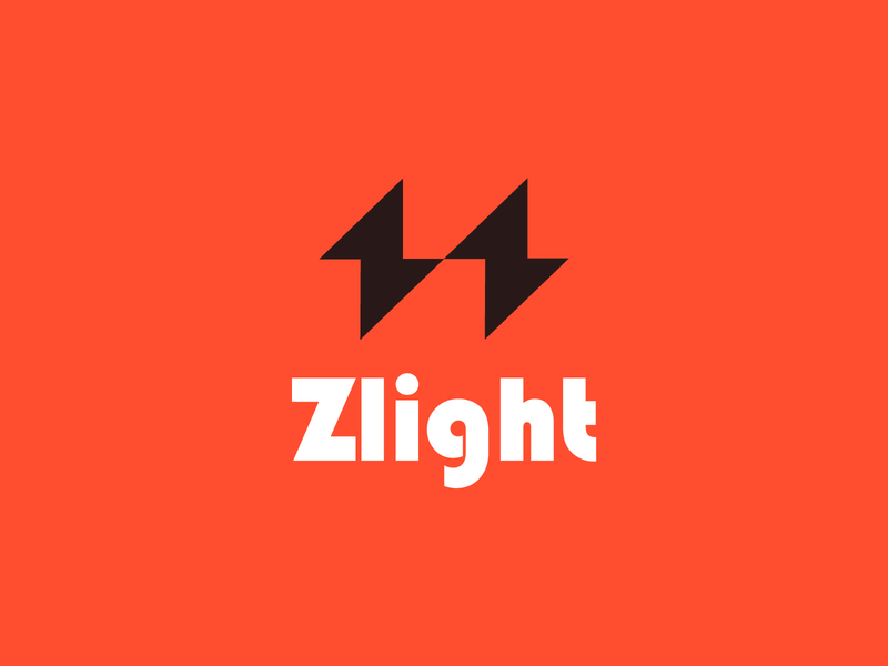 zlight abstract logo symbol logomarks negative space zthunder zlight z logo letterforms branding monogram logodesign power thunder energy light