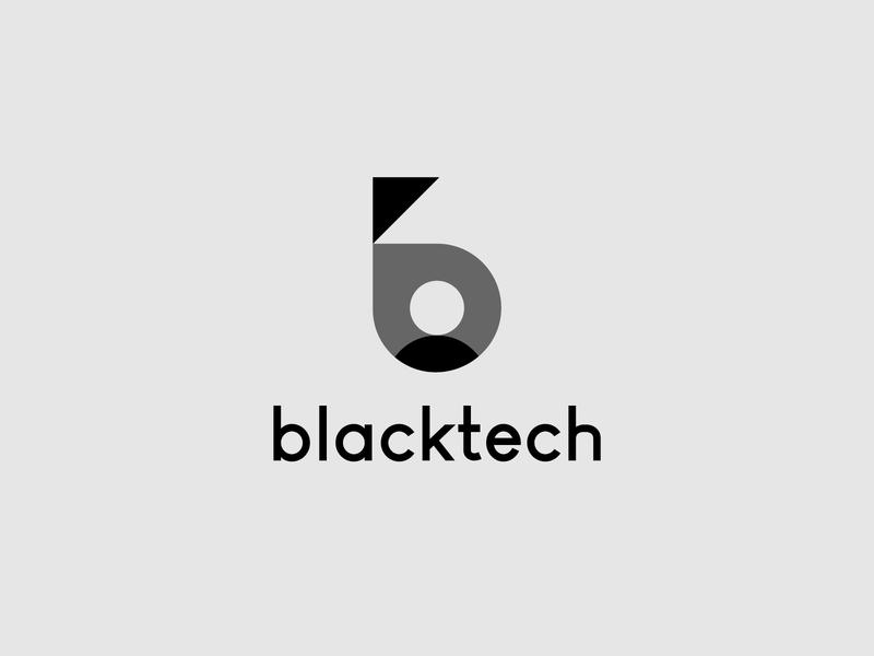 blackteck symbol customer black logomarks letterforms identity b letter logo lettermark monogram logo design tech logo branding b arrow b logo