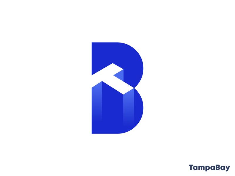 TampaBay technology typogaphy abstract logo logomarks identity monogram letterforms 3d logo branding logo design bt logo tb logo t logo b logo