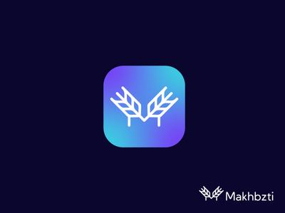makhbazti illustration lettering logo design logomarks gradient logo lettermark abstract logo logo application letterforms m logo monogram app logo branding