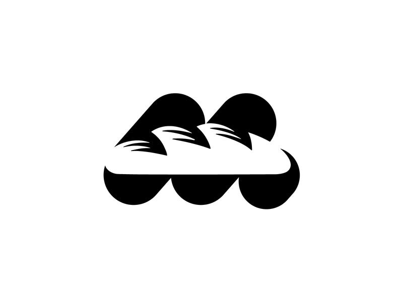 Wip _ m bread symbol backery negative space branding logomarks letterforms monogram lettermark negativespace m logo m letter bread logo bread