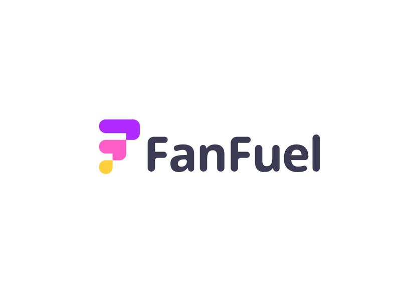 FanFuel logo design abstract logo symbol logos identity logomarks letterforms grow influencer monogram f logo letter f branding