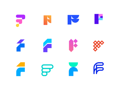 F logos exploration overlay abstract logo logo design app logo negative space logofolio f letter logo f logo f exploration logos letterforms lettermark logomarks branding