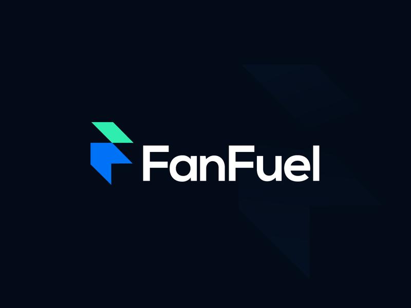 FanFuel negative space logomarks simple logo letterforms branding monogram abstract logo fan influencer digital arrow arrow logo f letter f letter logo f logo