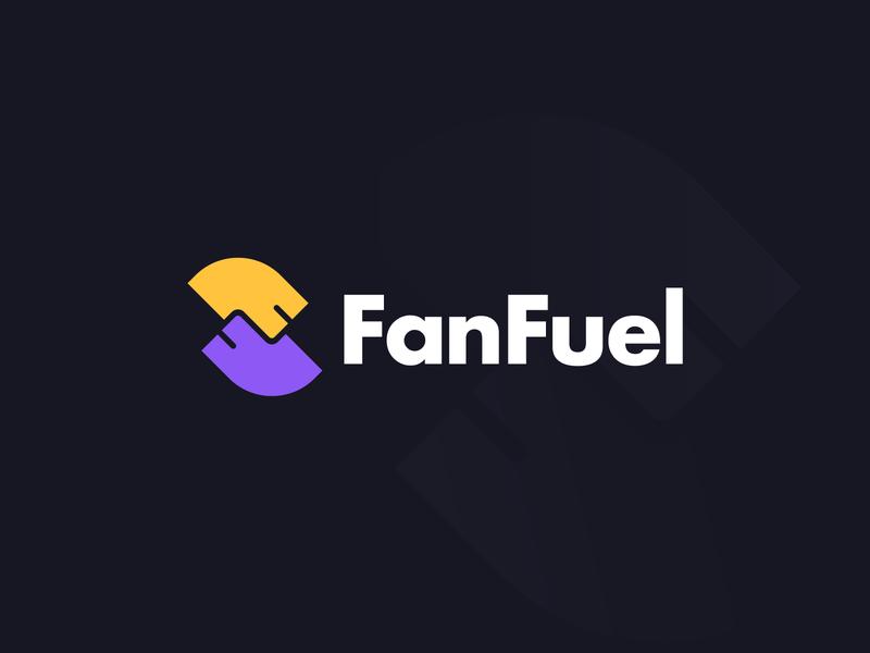 FanFuel abstract logo brand branding logomarks negative space network logo fan monogram letterforms lettermark f letter logo f logo ff