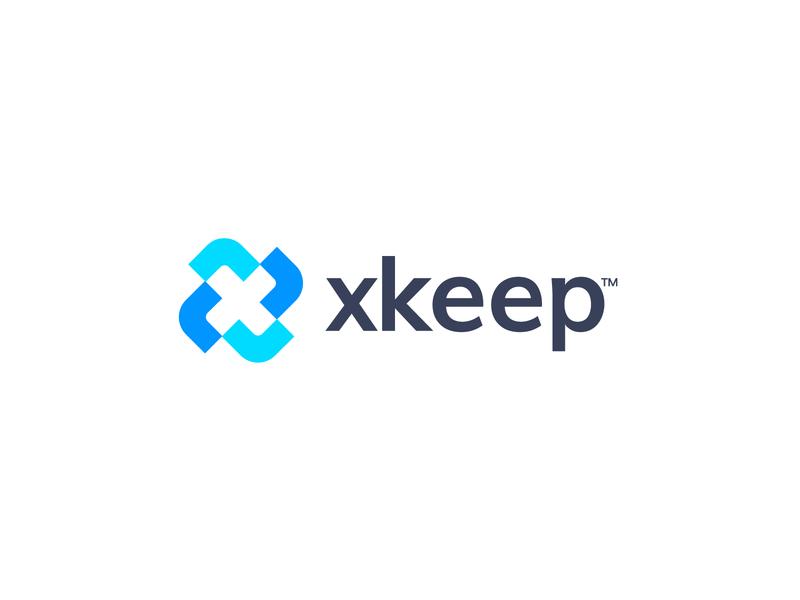 xkeep letterforms logomarks branding accounting accounting services monogram x letter logo x logo